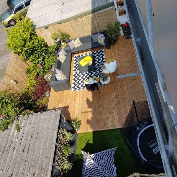 Kunstgras spelen tent tuin civic