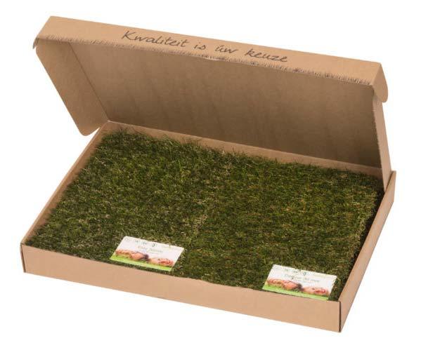 Kunstgras sample verpakking